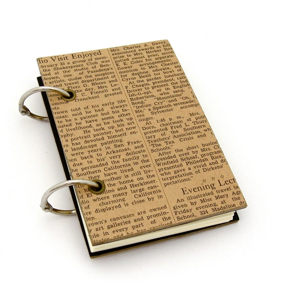 SALE Vintage Inspired Refillable Notebook: The Social Pages Edition