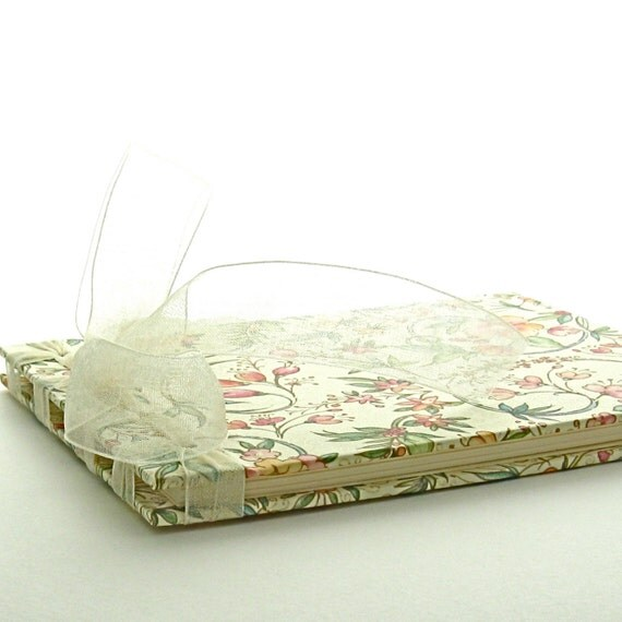 Small Wedding Guest Book in Cream, Pink, and Sage