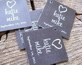 Chalkboard Style Wedding Favor Tags - Thank you tags - Wedding Gift Tags - Set of 50