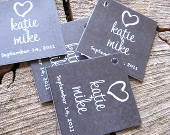 Chalkboard Style Wedding Favor Tags - Thank you tags - Wedding Gift Tags - Set of 50 - Cake Pop Tags