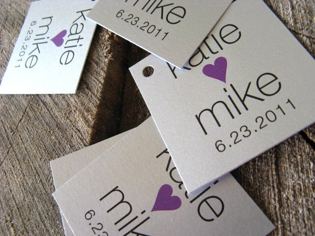 Modern Wedding Gifts: Silver Simple Modern Wedding Favor Tags Wedding Gift Tags