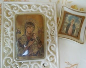Vintage Religious Virgin Mary Catholic Pictures Shrine Dashboard