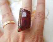 Vintage Baltic Amber and Sterling Silver Ring