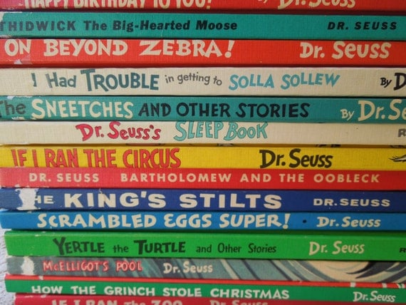 Vintage Collection of Older Dr. Seuss Books 1940's and 1950's
