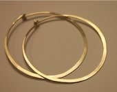 MAXED OUT Modern Hoops...14K Gold Filled Hammered Hoop Earrings