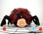 Spider Baby Plush Toy....black and red