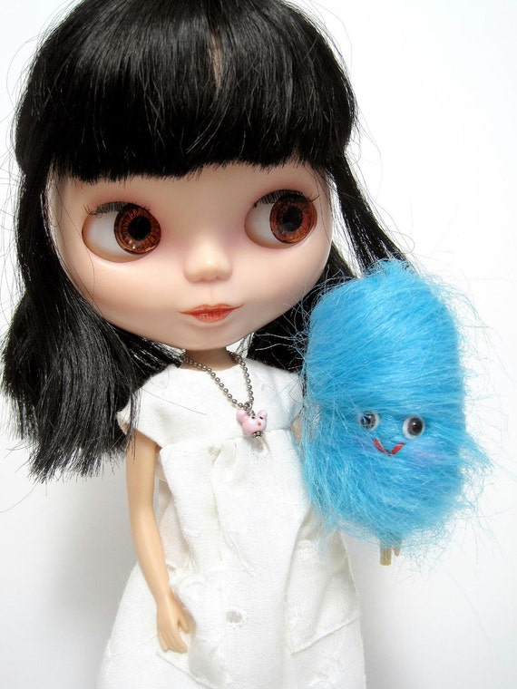 Blue Raspberry Cotton Candy for Blythe, Pullip and other similar sized dolls