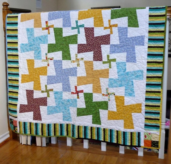 Items Similar To Double Whirligig Quilt Pattern PDF