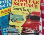 Another Neat VINTAGE POPULAR SCIENCE Magazine - November 1958 - Comparing Cars, Harley Davidson Ad -  - Retro Cool Look