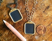 chalkboard pendant necklace (antique frame)