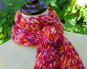 Merino Wool Scarf - Red, Tangerine, Plum, Pink - Punta Meritwist