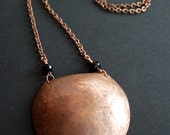 Large Copper Disc Necklace.....REDUCED PRICE....