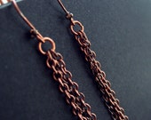 Copper Chain Swing Earrings...REDUCED PRICE...
