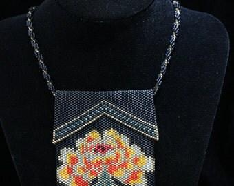 Ginko Flower Beaded Amulet Bag SALE