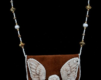 Beaded Amulet Bag  Angel Protector