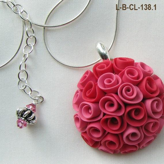 Rose Bouquet  Pendant Necklace