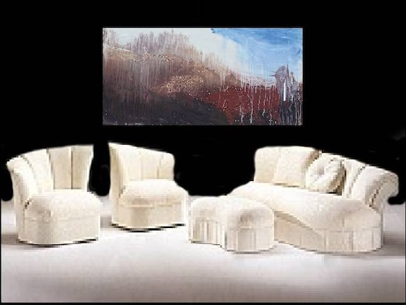 DEBs Art Gallery .... Huge Original Painting Exquisite aRt HUGE 4 FOOT