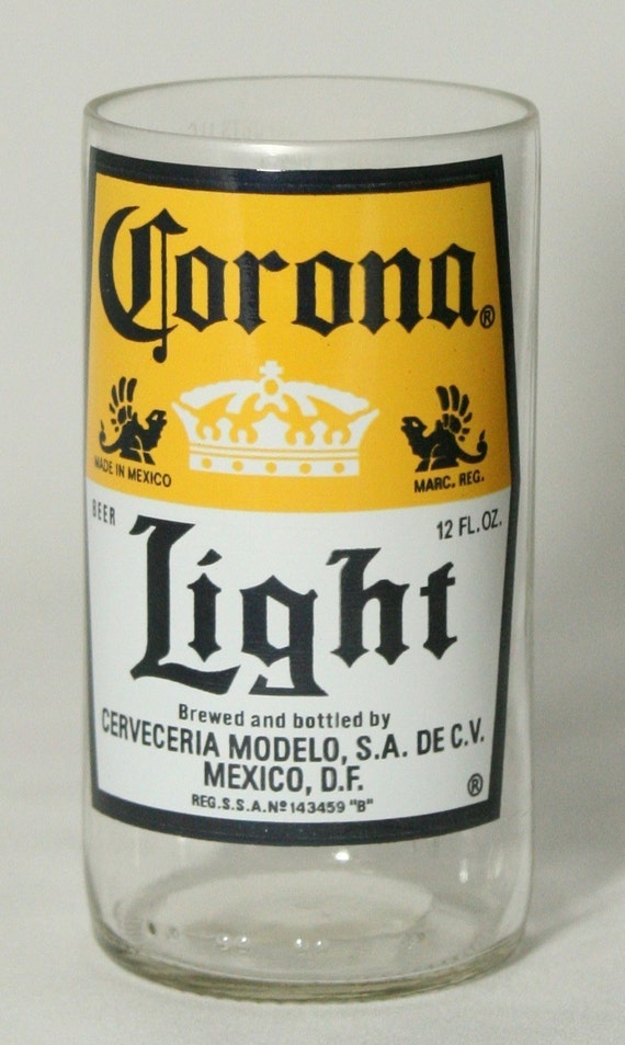 4 Glasses made from recycled Corona Light beer bottles - Juice Glasses by BottleBottoms