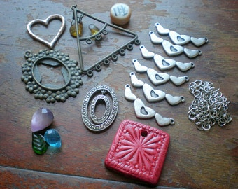 Destash 116 - Lot of Decorative Findings for Jewelry Making or Crafts