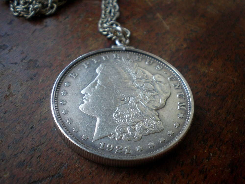 1921 Morgan Silver Dollar Vintage Necklace