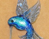 "Hummingbird Glass Pendant ... ""Created by Tom Heath"""