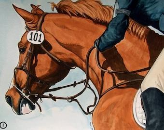 300 ADDRESS LABELS for HORSE ART lovers