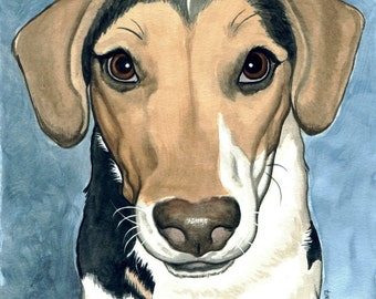ACEO Bailey the Jack Russell Terrier fun little guy