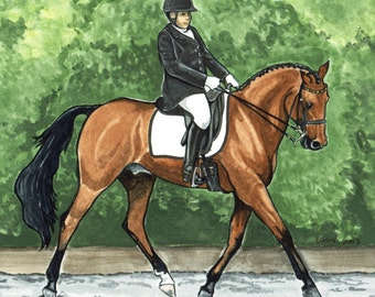 HORSE ART 8x10 Dressage Warmblood Pro PURTY