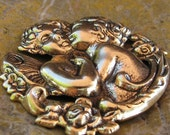 6 Antique Gold Cherubs Metal Stamping Jewelry Finding 330
