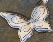 Antiqued Silver Brass Butterfly Metal Stampings Jewelry Finding Embellishment CO028 - 1 piece