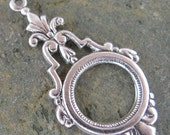 6 Antique Silver Earring Art Deco Drop Jewelry Finding 662