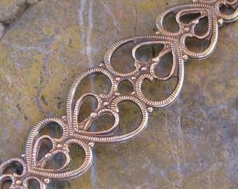 6 Brass Ox Victorian Filigree Jewelry Finding 865