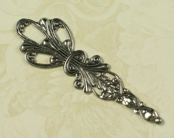 6 Antique Silver Long Dangle Drop Jewelry Finding 731
