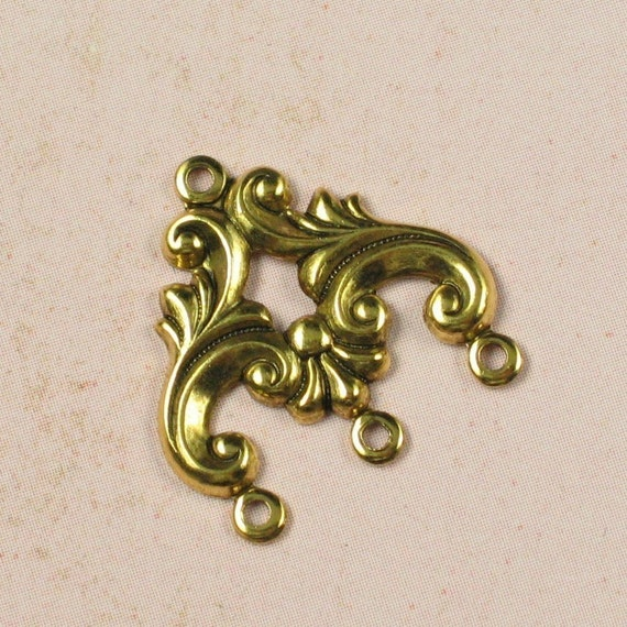 Antique gold jewelry findings to ring connectors