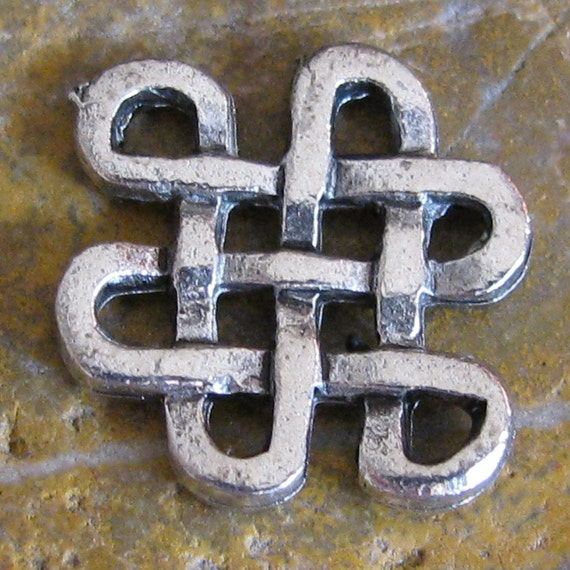 6 Antique Silver Knot charm Connector Jewelry Finding 1250