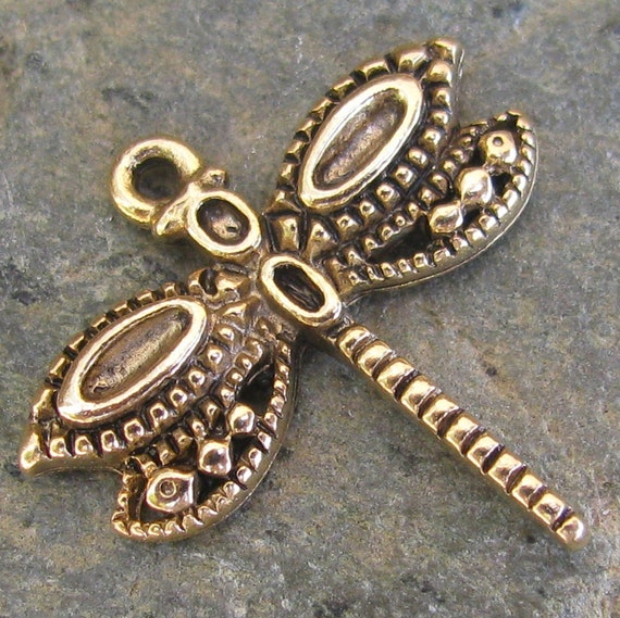 Dragonfly Charms Antique Gold Jewelry Making Supplies 190