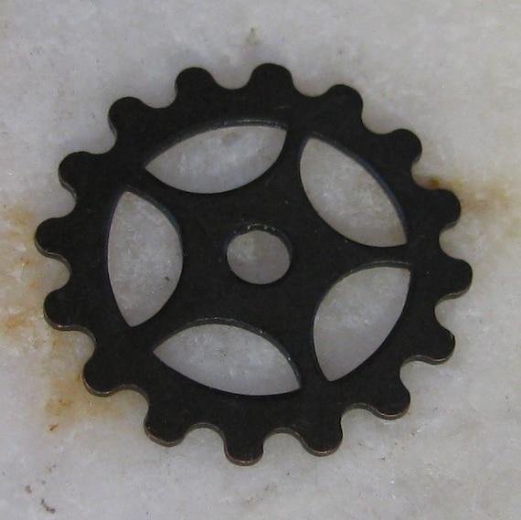 Steampunk Watch Gear Jewelry Parts Bronze 1142 - 12 pieces