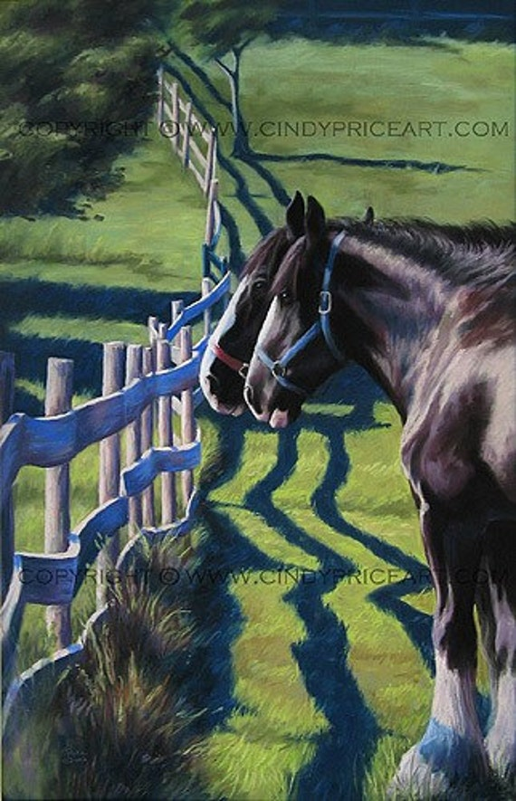 The Other Side - Print of original pastel painting
