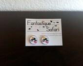 Unicorn Button Earrings SALE