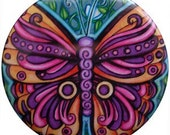 Boho Butterfly Pocket Mirror
