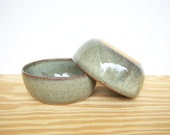 Pottery Soup Bowls in Fog Glaze - Set of 2
