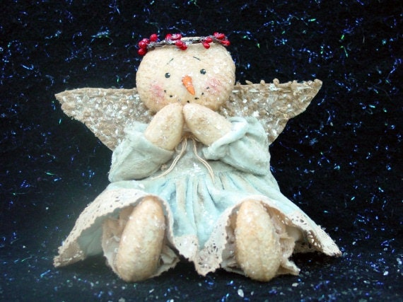 CF207 Baby Snow - PDF ePattern Cloth Snowman Angel Doll