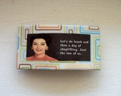 Let's lunch and shoplift:  handmade retro housewife womens clip