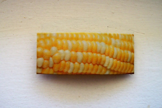 Corn:  Enticing handmade recycled womens clip