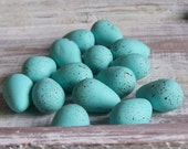 3 Speckled Robin Eggs...French Farmhouse Country Wedding Shabby Chic Hand Sculpted Favors