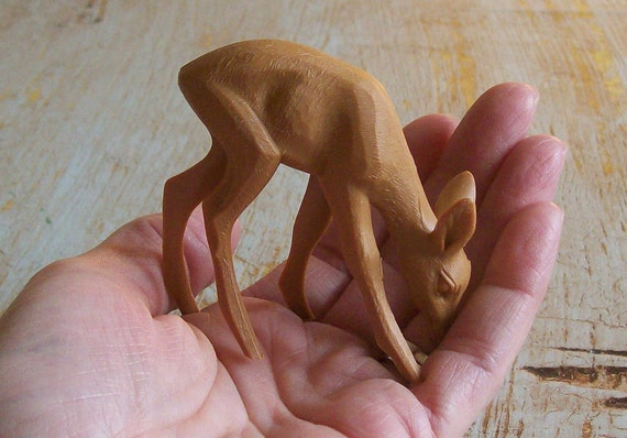 BUY 3 Get the 4th FREE / Set of 3 Vintage German Miniature Fawns Deer Cake Topper Figurine Toy New Old Stock