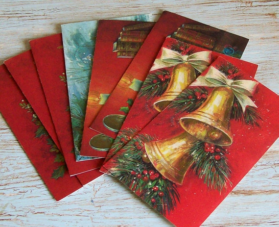 8 Unused Vintage 1960s Christmas Cards Instant Collection Ephemera Destash Great Scrapbook Supplies