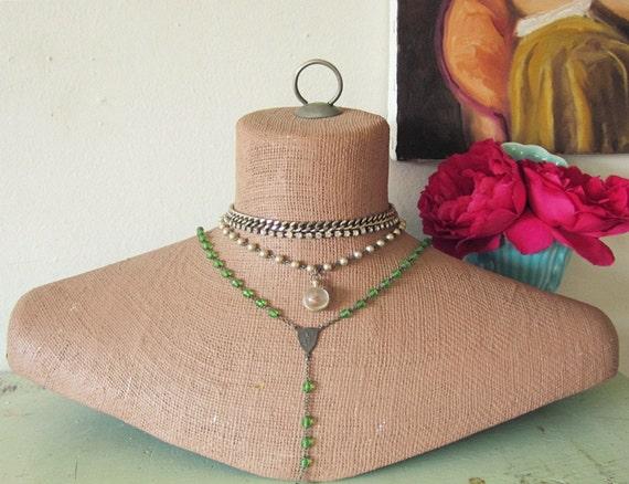 Vintage Mannequin Neck Shoulders Hanging Free Standing Jewelry Display