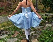 Halloween Ready to Ship ...  Naughty Alice... costume Halloween dress-up corset and skirt