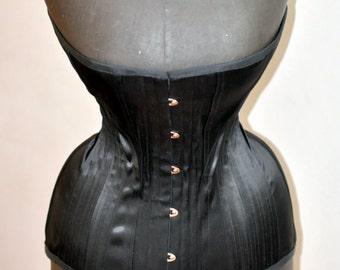 Black Edwardian Corset